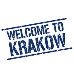 Welcome to krakow stamp vector