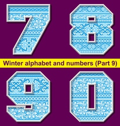 winter abc 09 vector image vector image