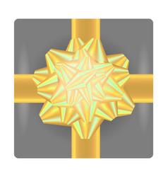 yellow gift bow vector image