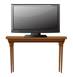 A television ona table vector
