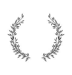 Gray scale crown formed with two olive branch vector