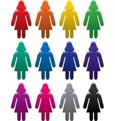 woman sympols set vector image