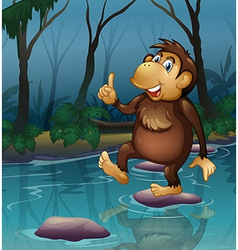 A monkey in the pond vector image
