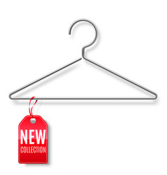 Clothes hanger with new collection tag vector