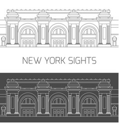 New york sights metropolitan museum of art vector