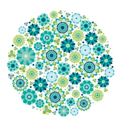Green design - flower circle vector
