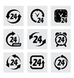 24 hours symbols vector