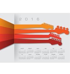 2016 calender guitar headstocks vector