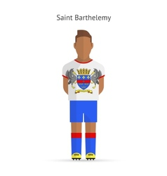 Saint barthelemy football player soccer uniform vector