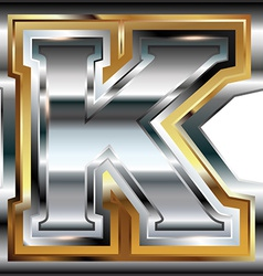 Fancy font letter k vector