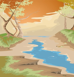 Drought and forest vector