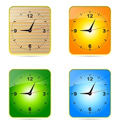 Clock face setting conception reminder science num vector