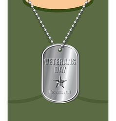 Veterans day military medallion from soldier in vector