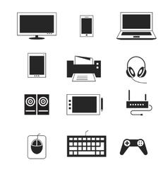 Computer electronic device templates vector