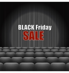 Black friday inscription vector