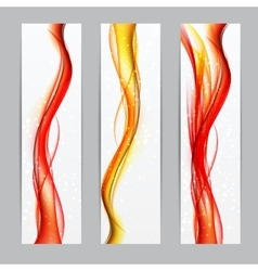 Abstract colored wave header background vector