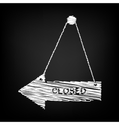 Closed sign scribble effect vector