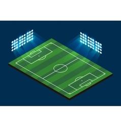 Soccer football field vector