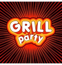 Grill party design vector
