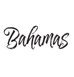 Bahamas text design calligraphy vector