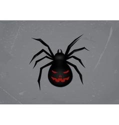 Black spider vector image vector image