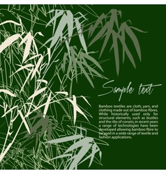 Branch of bamboo background for design vector image vector image