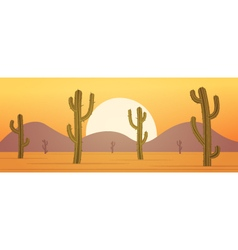Cartoon Desert Banner vector image