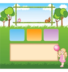 Child template for web site vector image
