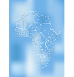 Creative map of the african continent vector