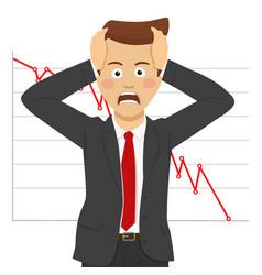Desperate businessman financial crisis concept vector