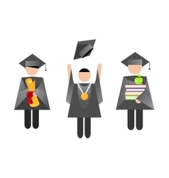 Education graduation people vector image