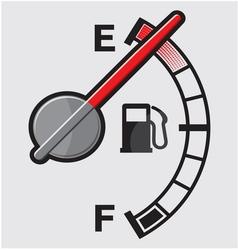 Empty gas tank indicator vector image vector image