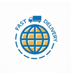 Fast delivery logo vector image vector image