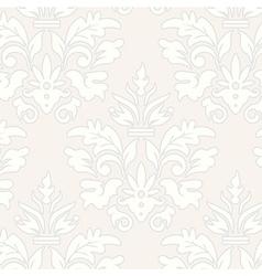 Grey grunge vintage floral seamless pattern vector image