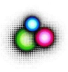 halftone button vector image vector image