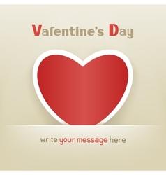 Heart valentine day vector
