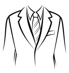 Jacket and tie vector image vector image