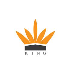 king logo vector image vector image