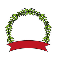 Laurel crown icon image vector