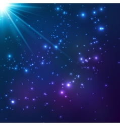 Magic blue cosmic light background vector