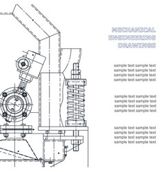 Mechanical engineering the drawing technical the vector