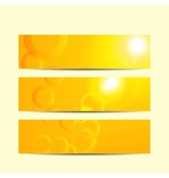 Modern abstract banner Yellow summer background vector image vector image