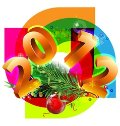 new year decorative vector image vector image