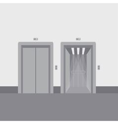 Open and close elevator doors vector image