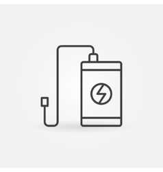 Power bank outline icon vector