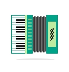 Real Accordion flat icon isolated on background vector image