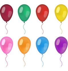 Realistic balloons set 3d balloon different vector