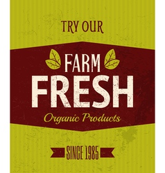 Retro Farm Fresh Poster vector image