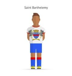 Saint barthelemy football player soccer uniform vector
