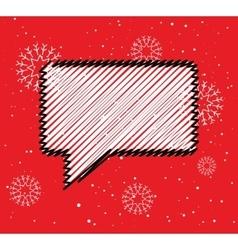 Sale doodle blank speech bubble box winter season vector